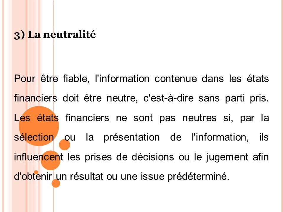 3) La neutralité