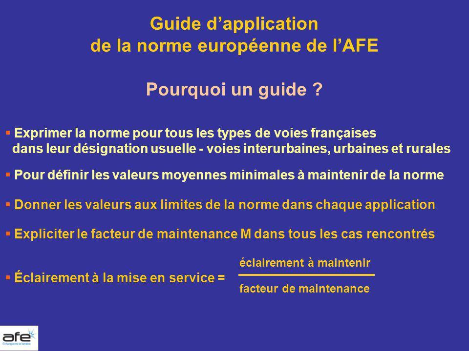 de la norme européenne de l'AFE