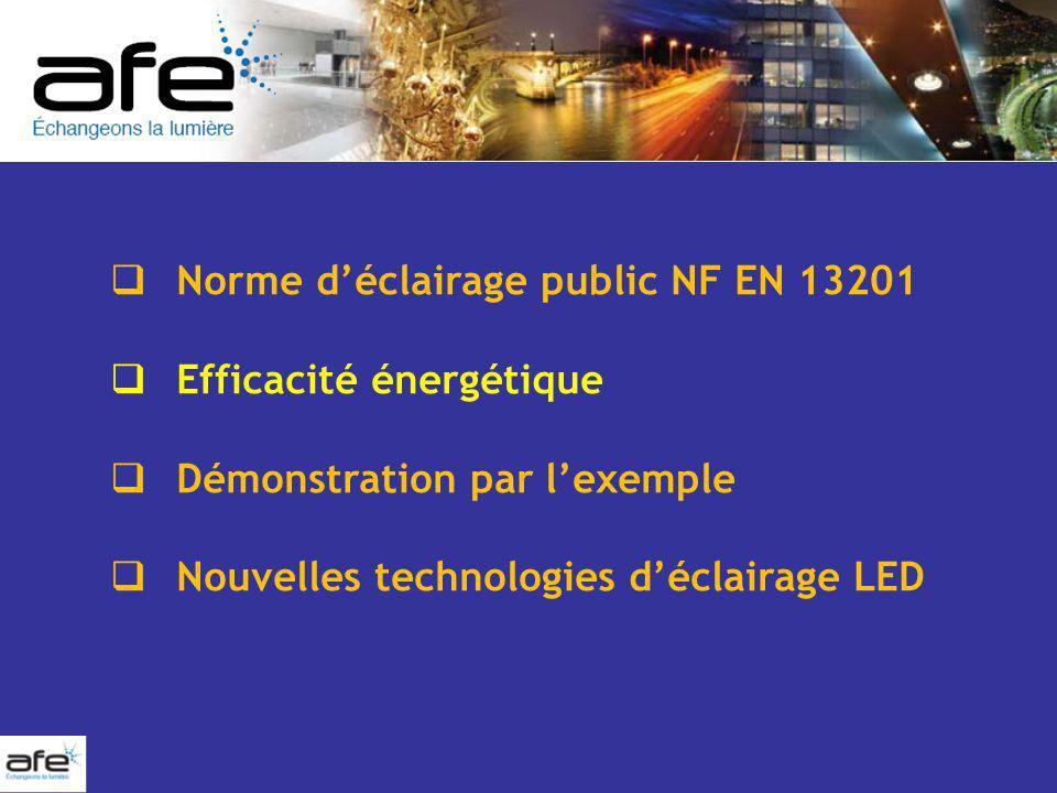 Norme d'éclairage public NF EN 13201