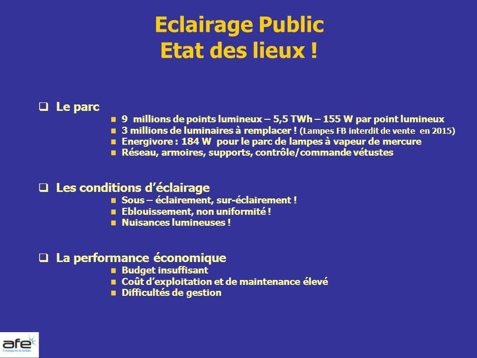 Eclairage Public Etat des lieux !