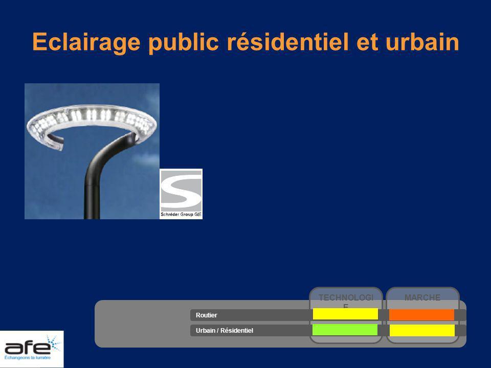 Eclairage public résidentiel et urbain