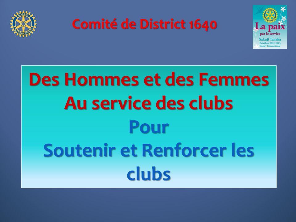 Des Hommes et des Femmes Soutenir et Renforcer les clubs