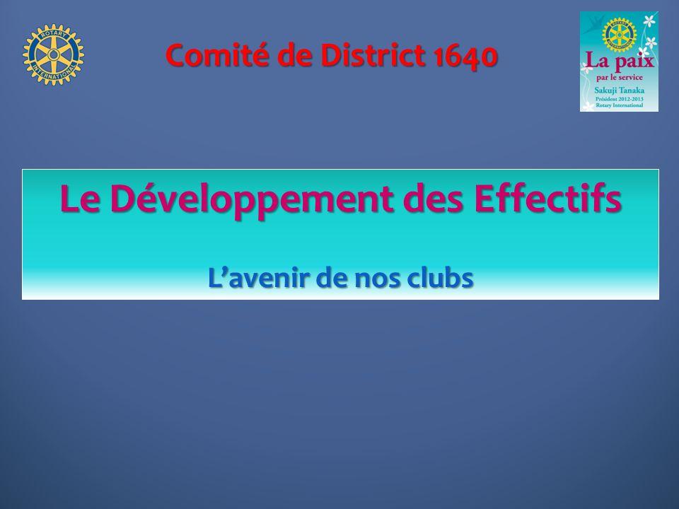 Le Développement des Effectifs