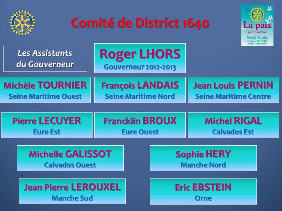 Comité de District 1640 Roger LHORS