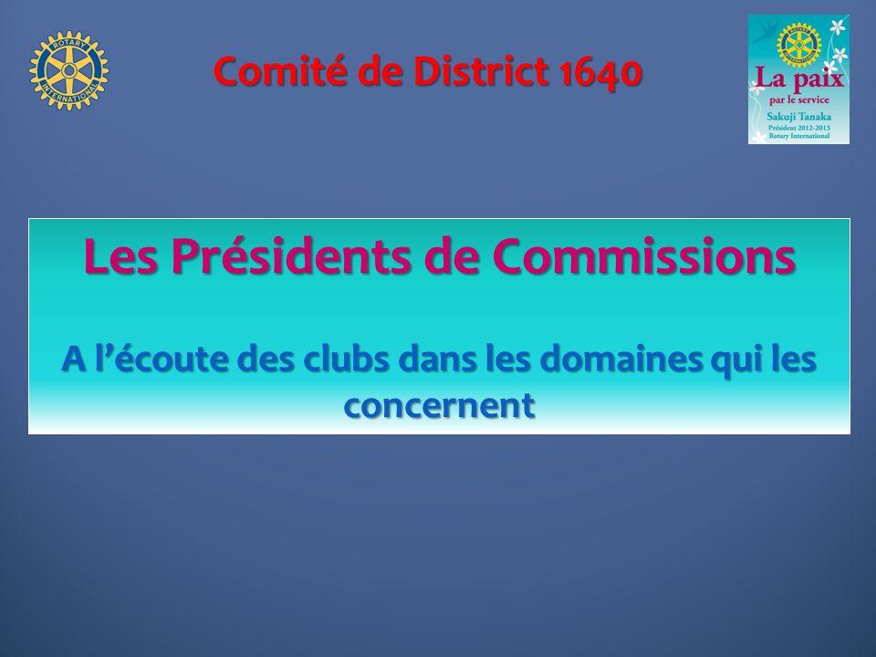 Les Présidents de Commissions