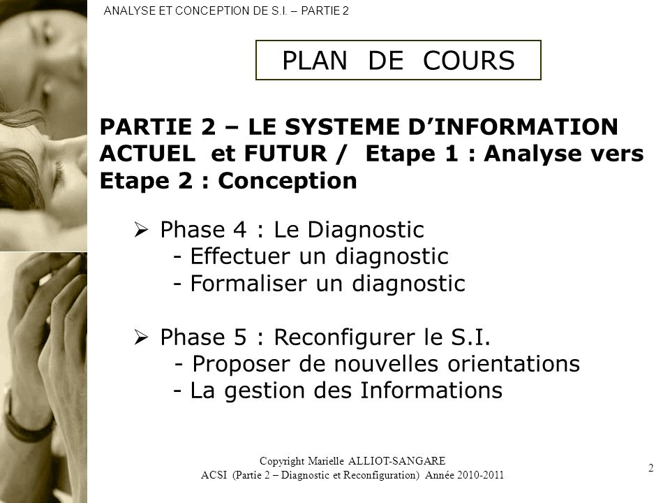 ANALYSE ET CONCEPTION DE S.I. – PARTIE 2