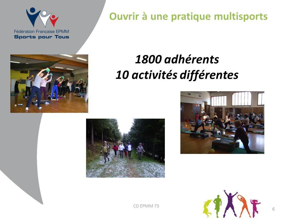10 activités différentes