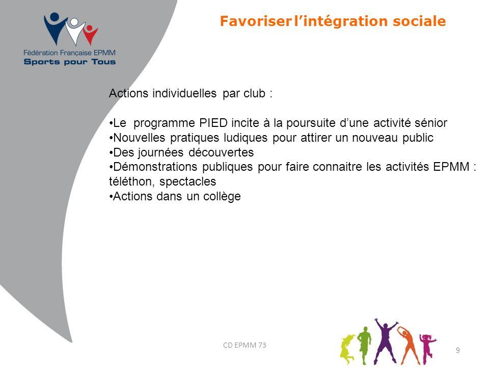 Favoriser l'intégration sociale