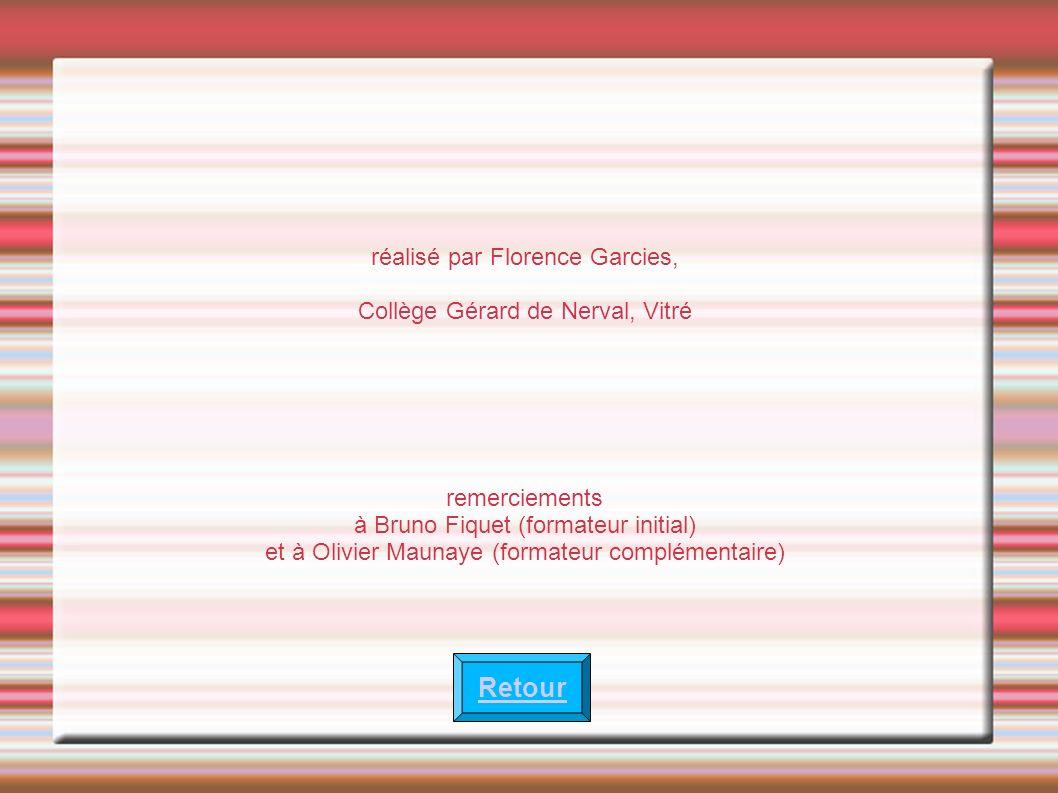 Retour réalisé par Florence Garcies, Collège Gérard de Nerval, Vitré