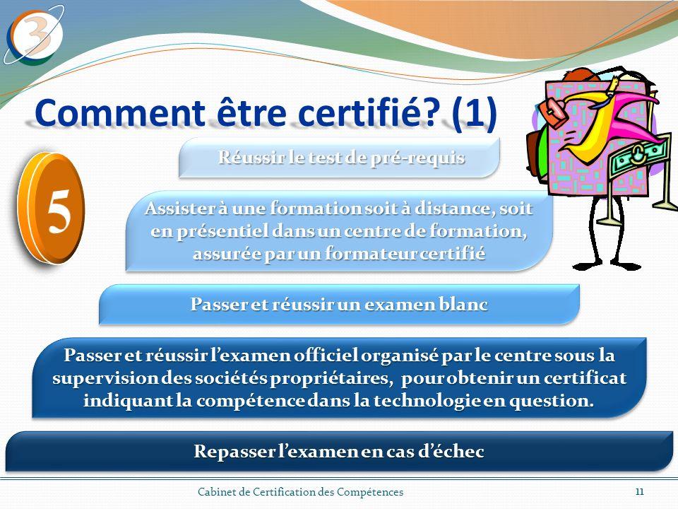 Comment être certifié (1)
