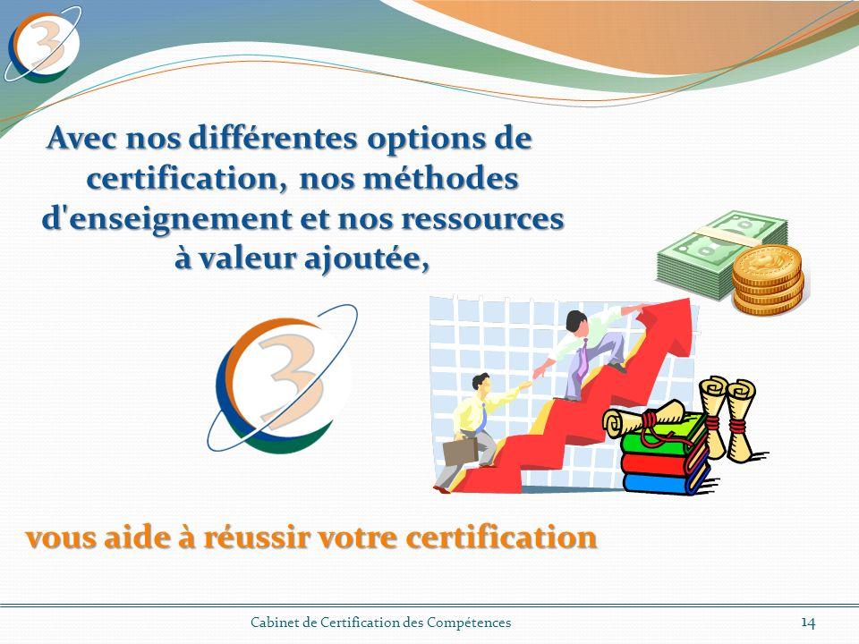 vous aide à réussir votre certification