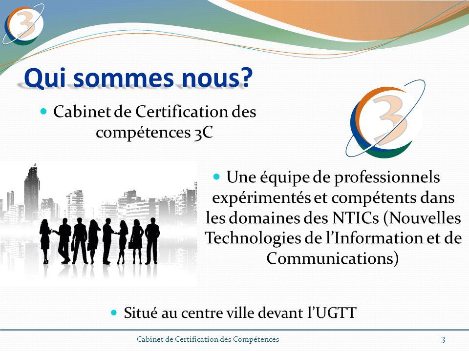 Cabinet de Certification des compétences 3C