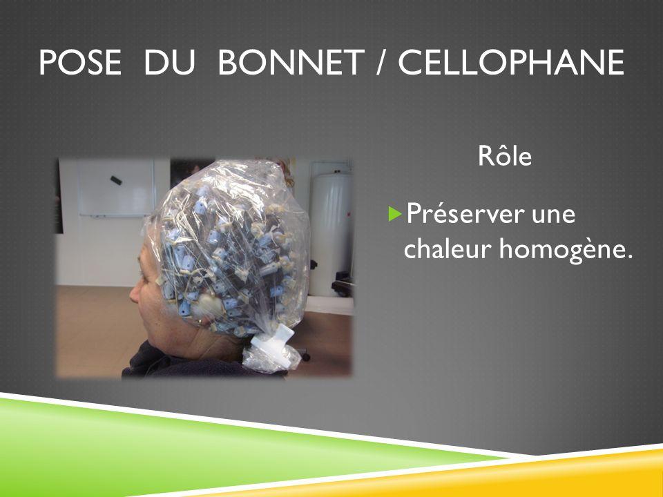Pose du bonnet / cellophane