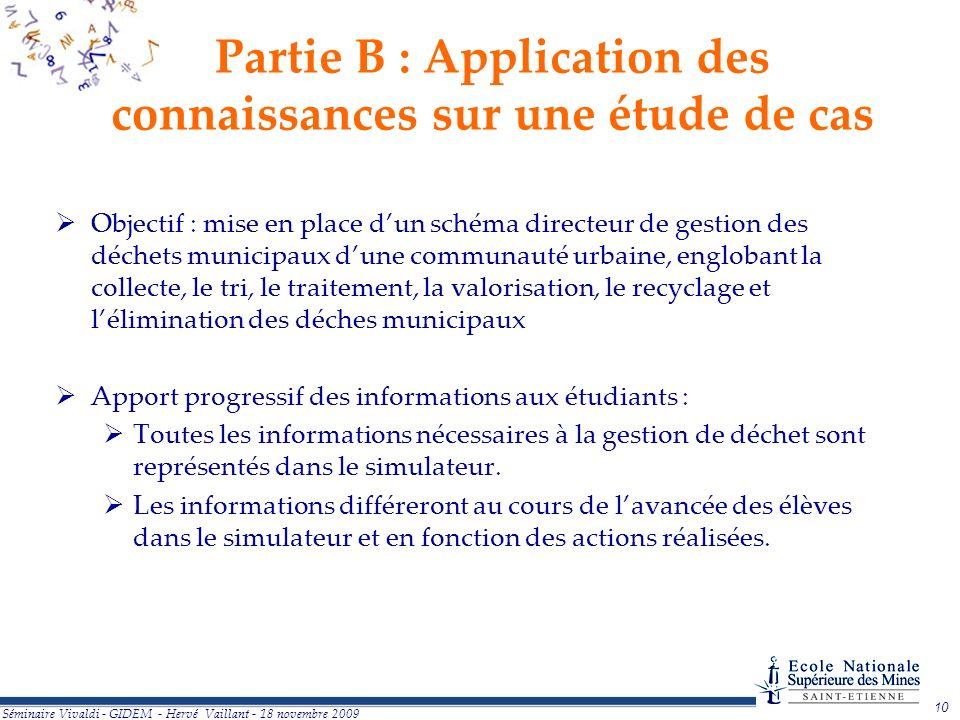 Partie B : Application des connaissances sur une étude de cas