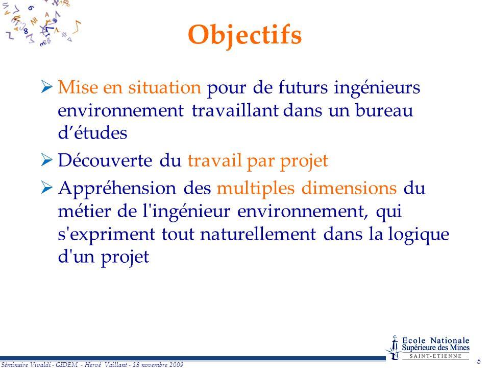 Objectifs Mise en situation pour de futurs ingénieurs environnement travaillant dans un bureau d'études.