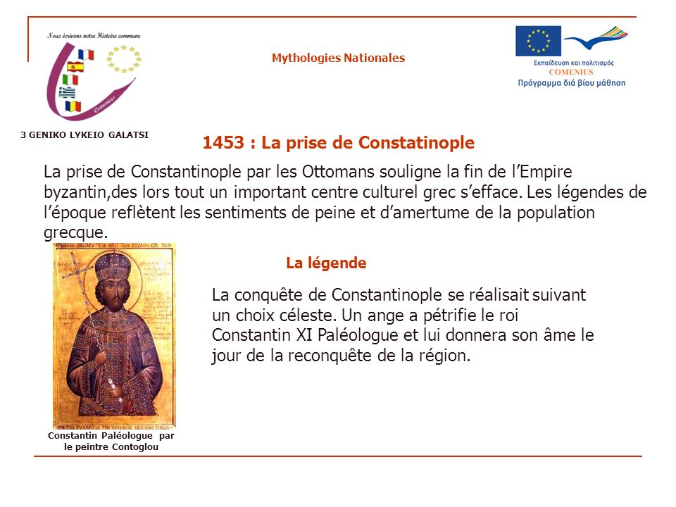 Mythologies Nationales 1453 : La prise de Constatinople