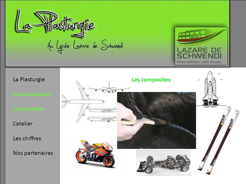 La Plasturgie Les techniques Les produits L'atelier Les chiffres Nos partenaires Les composites