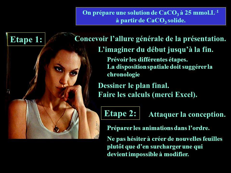 On prépare une solution de CaCO3 à 25 mmol.L-1