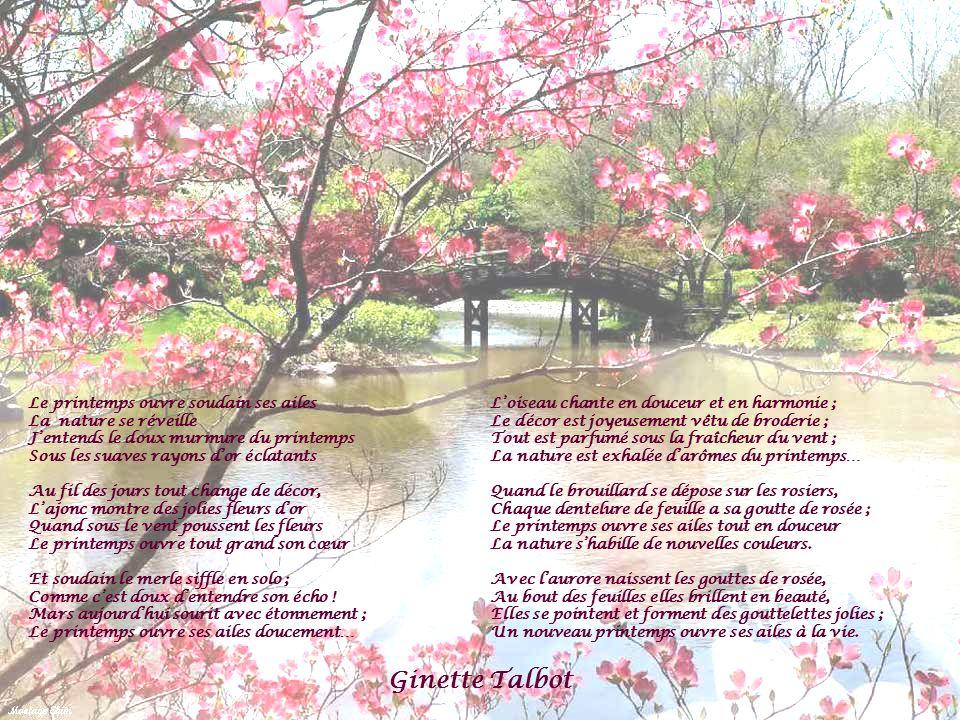 Ginette Talbot Le printemps ouvre soudain ses ailes