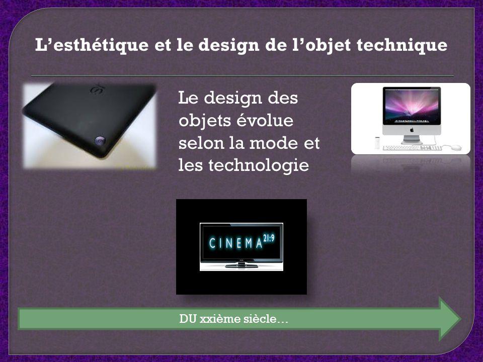L'esthétique et le design de l'objet technique