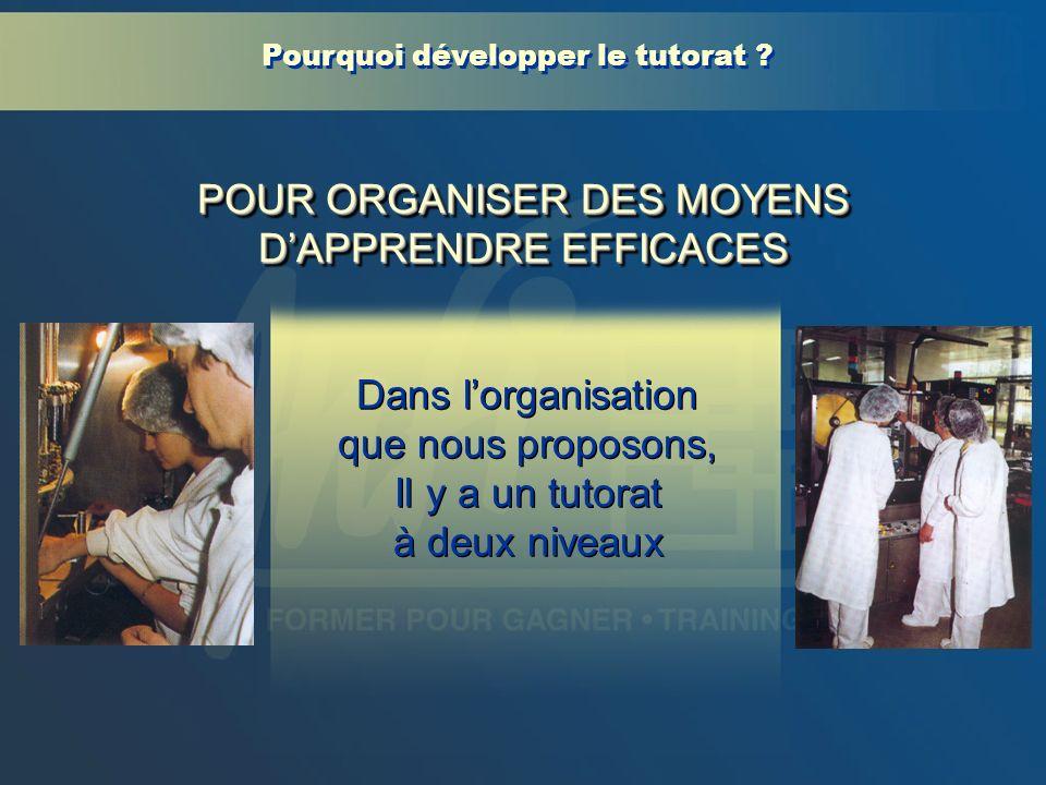 POUR ORGANISER DES MOYENS D'APPRENDRE EFFICACES