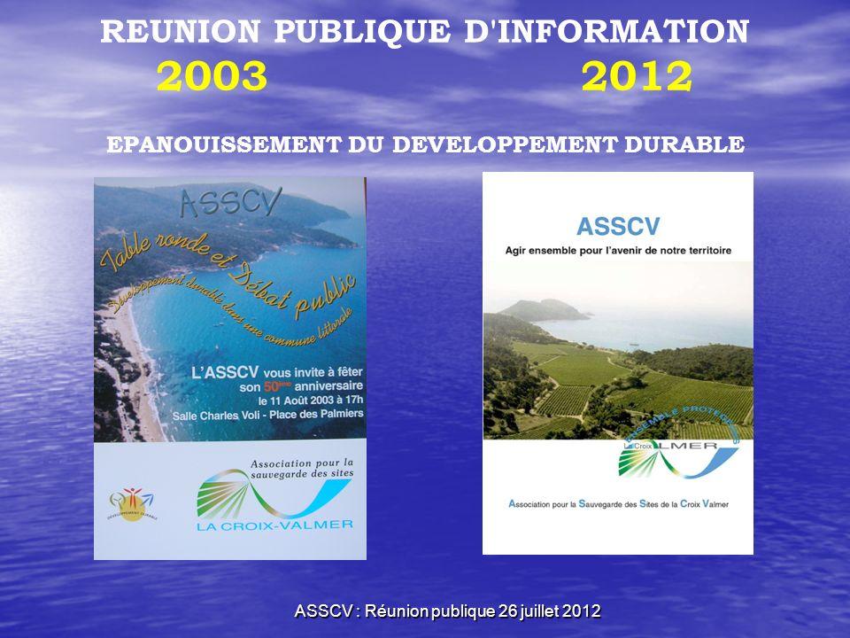 ASSCV : Réunion publique 26 juillet 2012