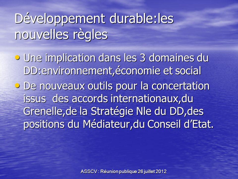 Développement durable:les nouvelles règles