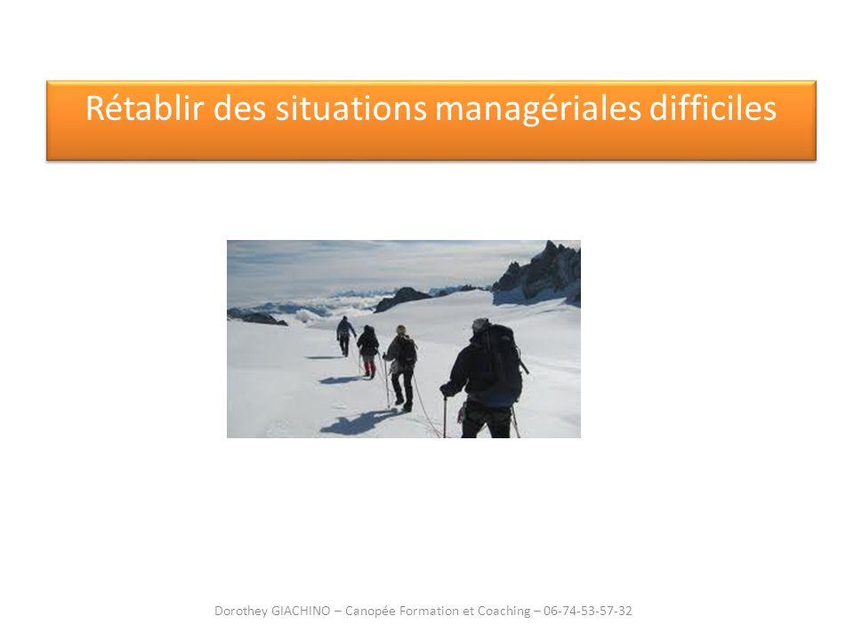 Rétablir des situations managériales difficiles