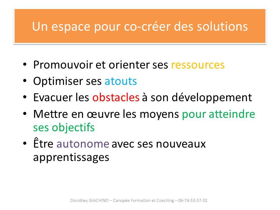 Un espace pour co-créer des solutions