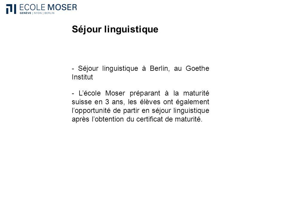 Séjour linguistique - Séjour linguistique à Berlin, au Goethe Institut