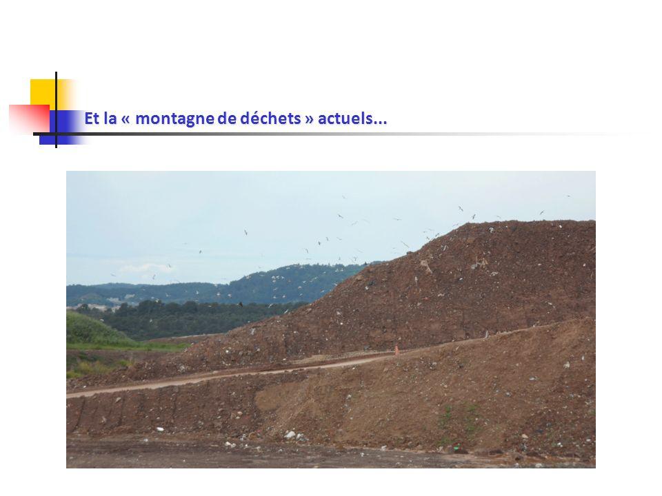Et la « montagne de déchets » actuels...