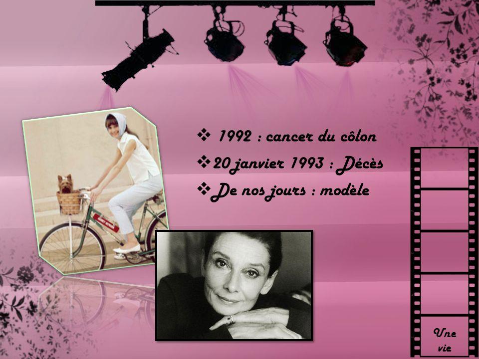 1992 : cancer du côlon 20 janvier 1993 : Décès De nos jours : modèle