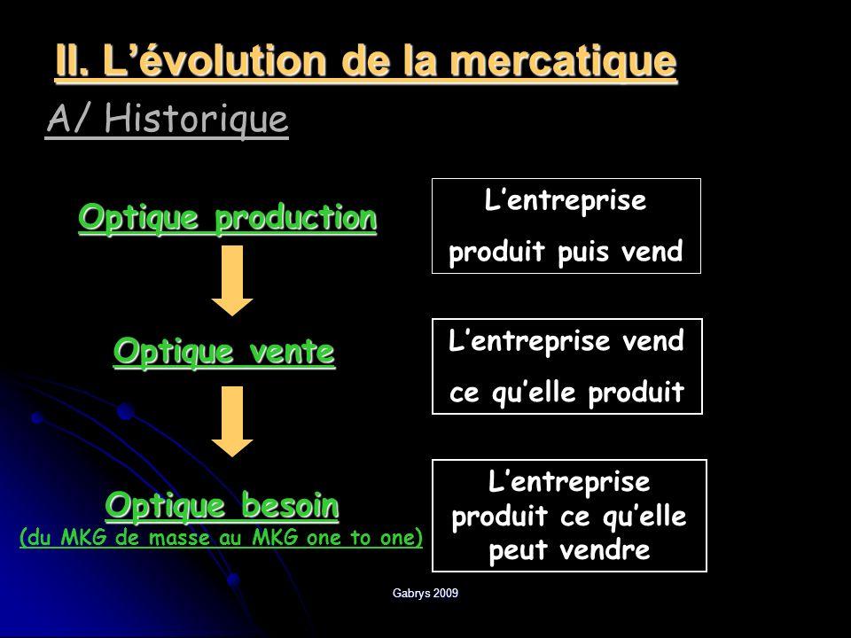 II. L'évolution de la mercatique