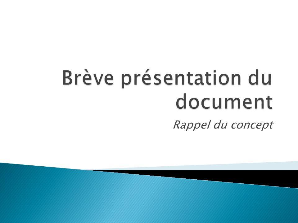 Brève présentation du document
