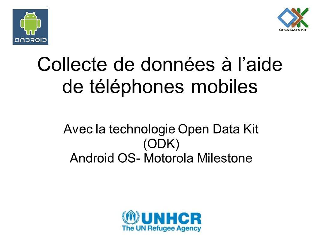 Collecte de données à l'aide de téléphones mobiles