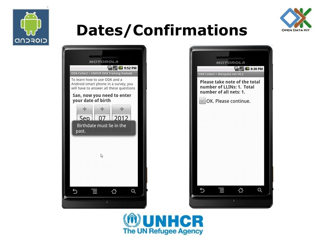Dates/Confirmations