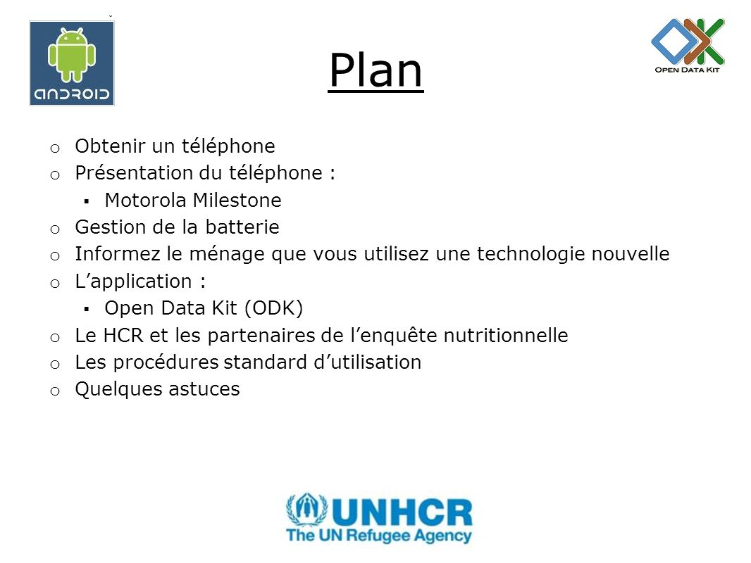 Collecte de donn es l aide de t l phones mobiles ppt for Obtenir des plans