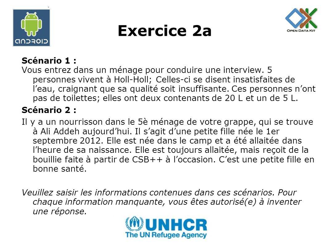 Exercice 2a Scénario 1 :