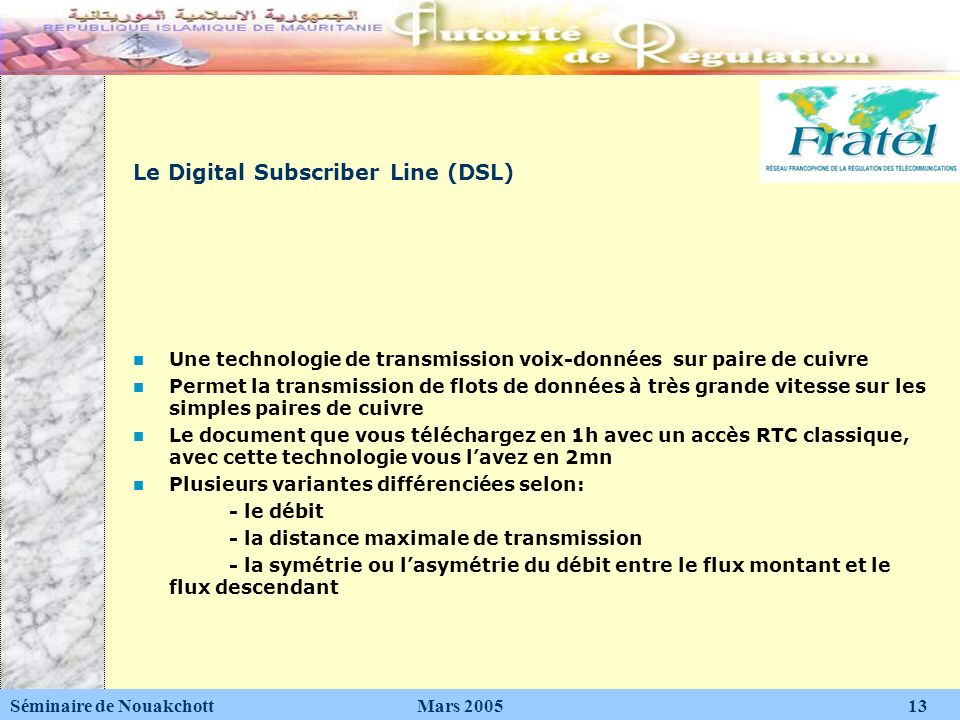 Le Digital Subscriber Line (DSL)