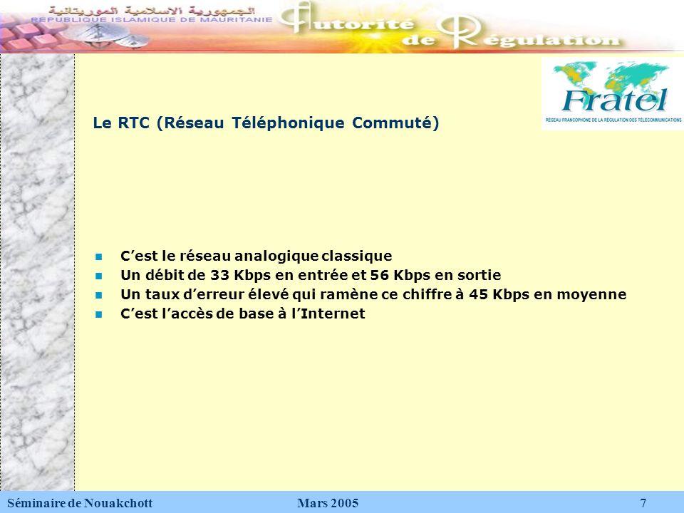 Le RTC (Réseau Téléphonique Commuté)