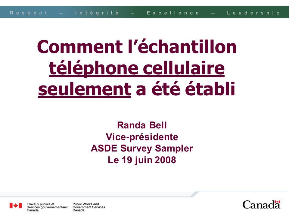 Comment l'échantillon téléphone cellulaire seulement a été établi