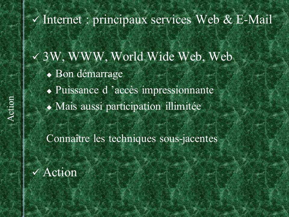 Internet : principaux services Web & E-Mail