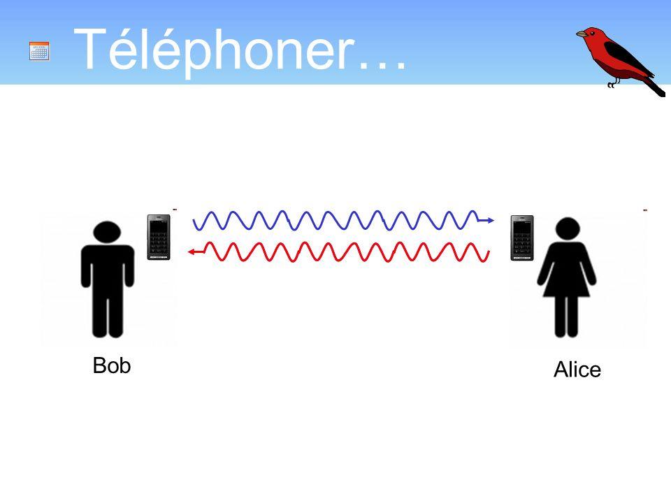 Téléphoner… Introduire la notion d interférence Bob Alice