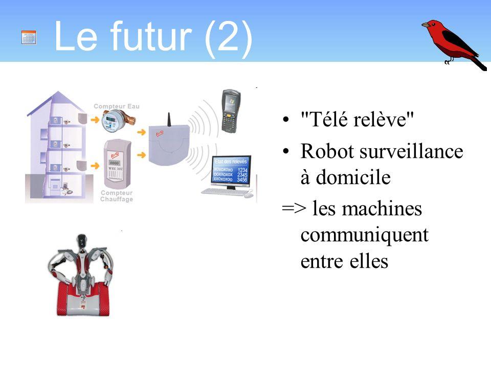 Le futur (2) Télé relève Robot surveillance à domicile