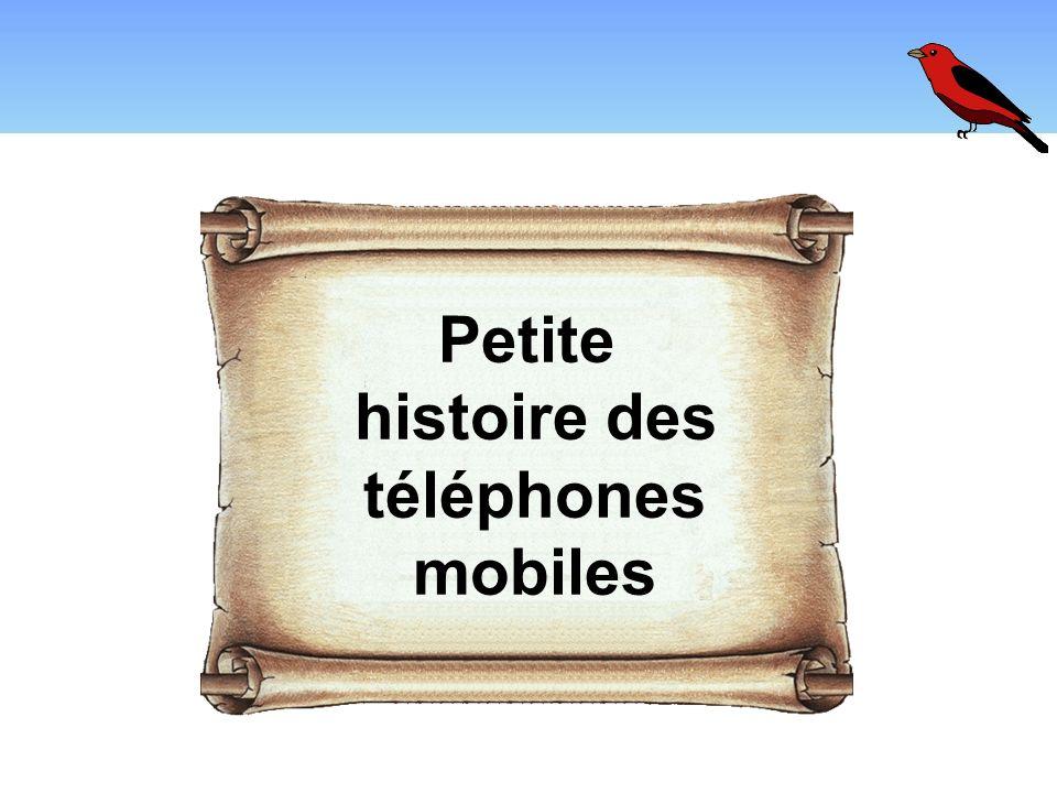 Petite histoire des téléphones mobiles