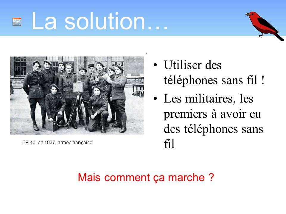 La solution… Utiliser des téléphones sans fil !
