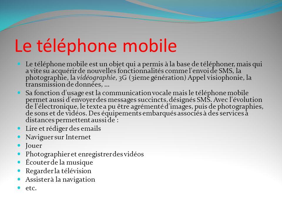 Le téléphone mobile