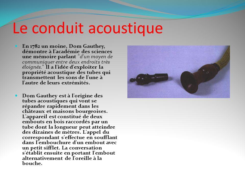 Le conduit acoustique