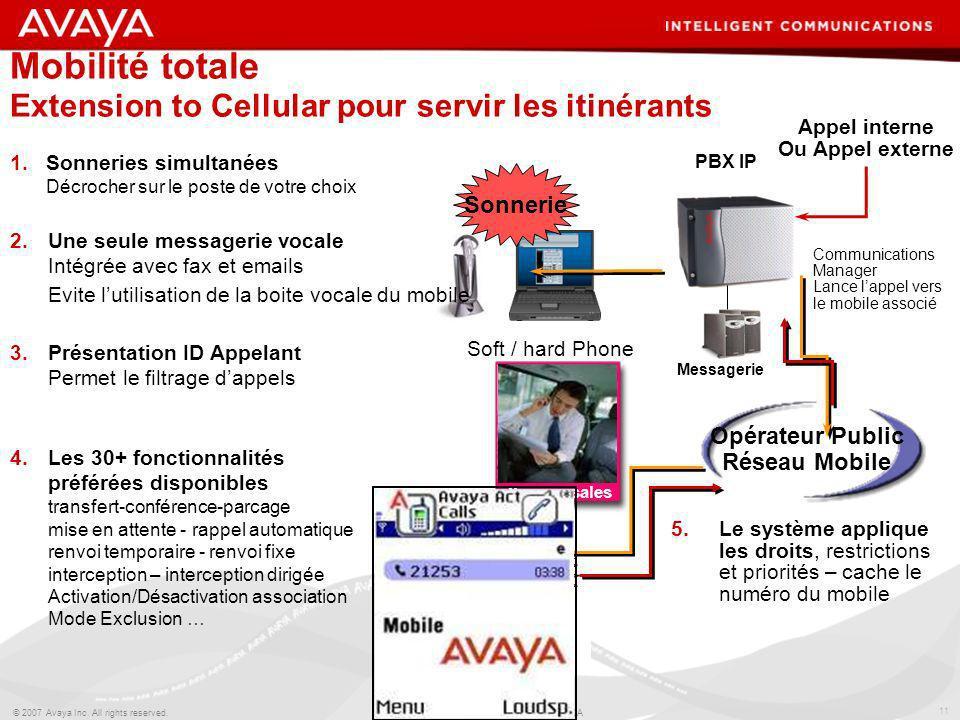 Mobilité totale Extension to Cellular pour servir les itinérants