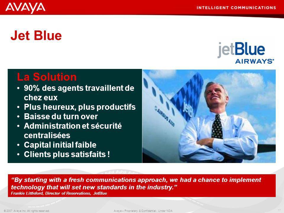 Jet Blue La Solution 90% des agents travaillent de chez eux